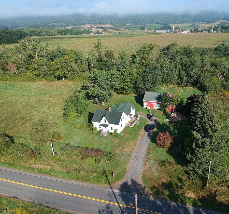 Our patch of land, house, and barn