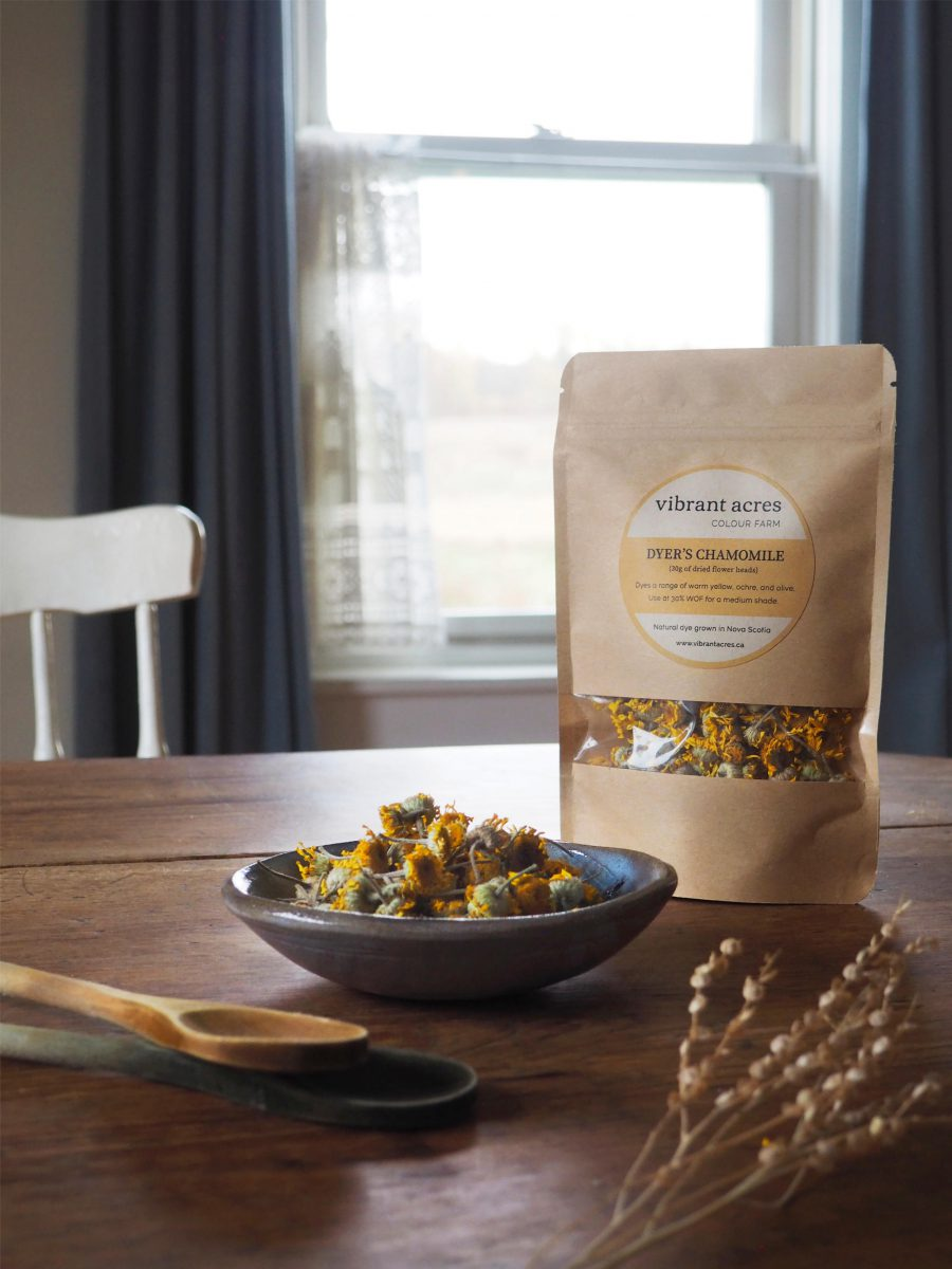 Dyer's Chamomile natural plant dye material and packaged dye