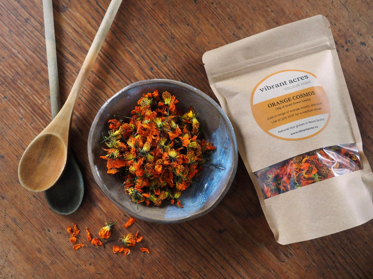 Orange Cosmos natural plant dye material and packaged dye