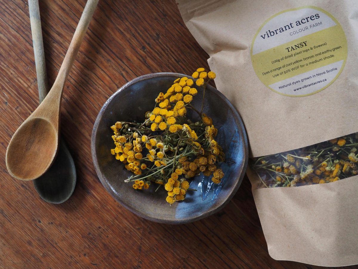 Tansy natural plant dye material and packaged dye